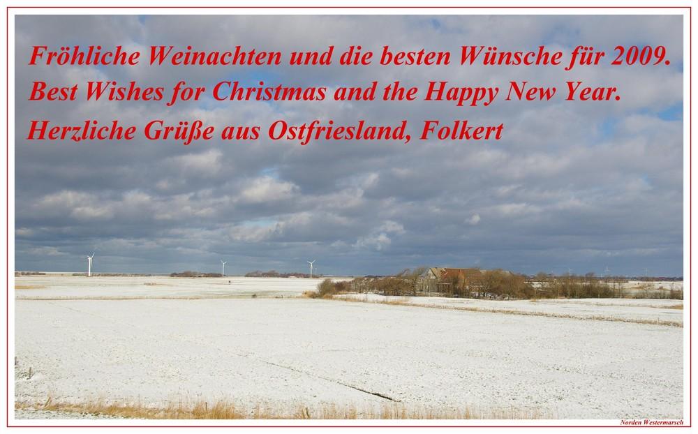 Weihnachtsgrüße aus Ostfriesland