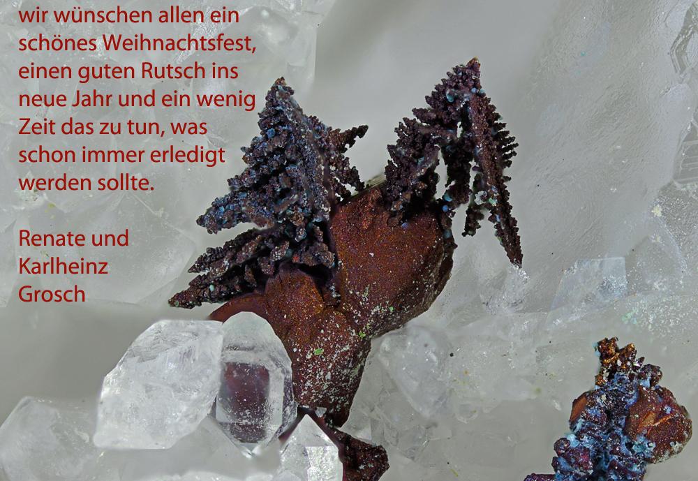 Weihnachtsgrüsse mit ged. Kupfer xx, BB 3 mm, Aufn. 44, Grube Clara