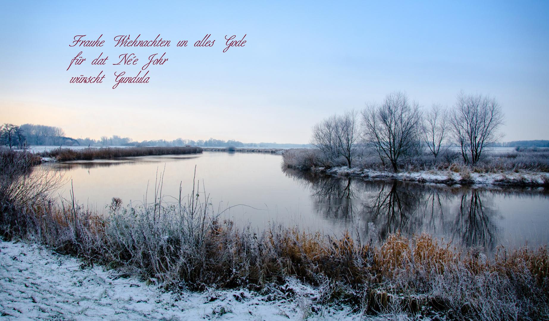 Frohe Weihnachten Plattdeutsch.Weihnachtsgrusse Von Der Oste Foto Bild Gratulation Und