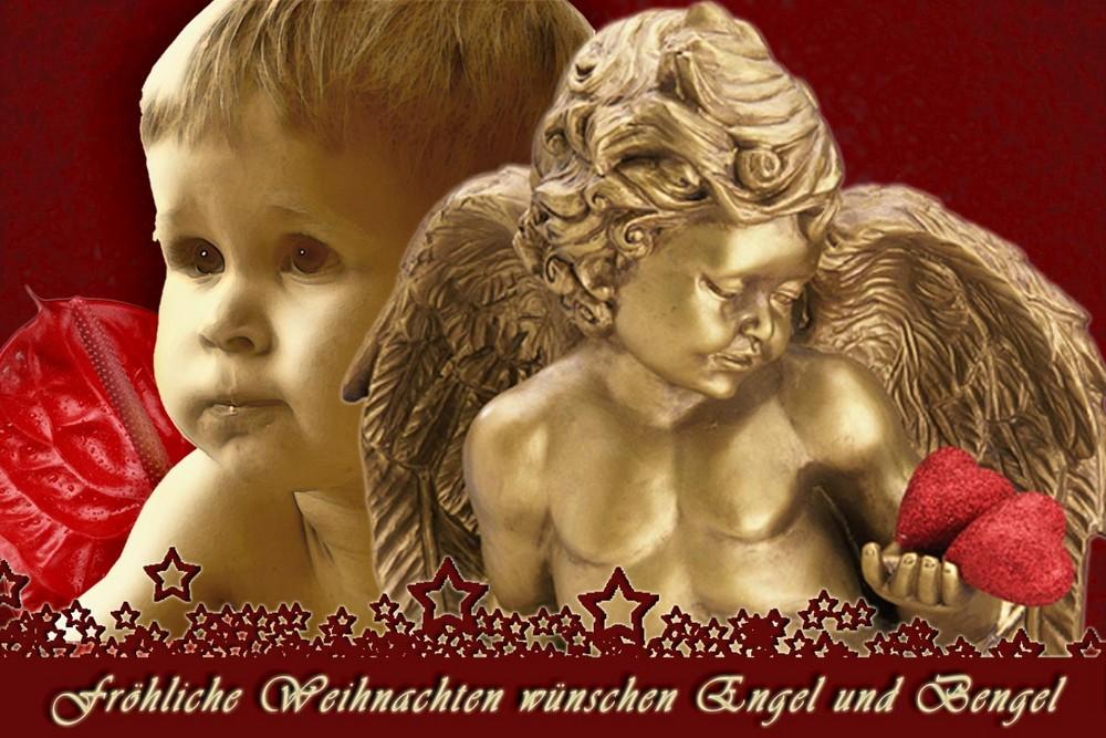 """Weihnachtskarte """"Engel und Bengel"""""""