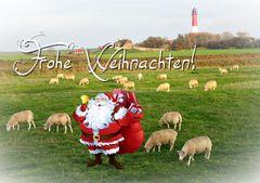 Weihnachtskarte mit Pellwormmotiv