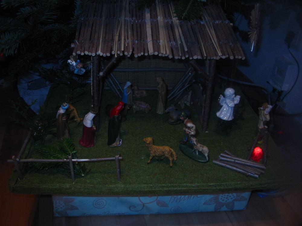 Weihnachtskrippe Dezember 2004 Ohne Blitz