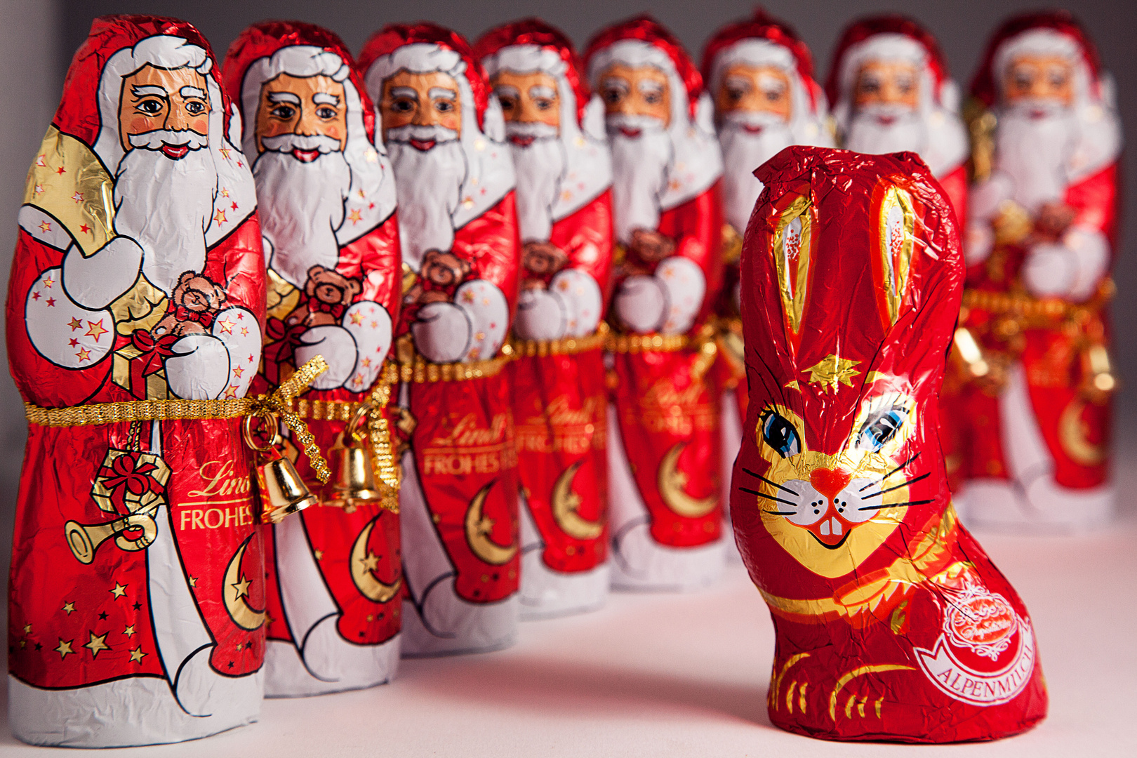 Weihnachtsmann meets Osterhase - Allen FC-lern wünsche ich eine ...