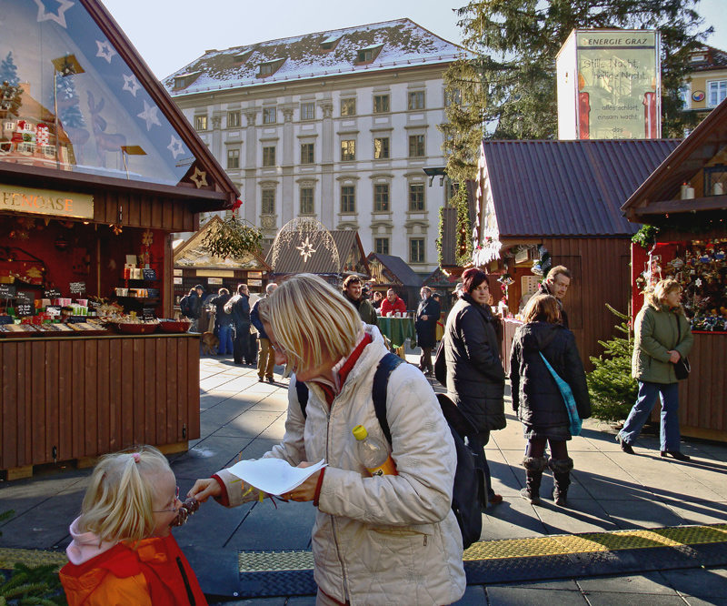 Weihnachtsmarkt auf dem Grazer Hauptplatz!