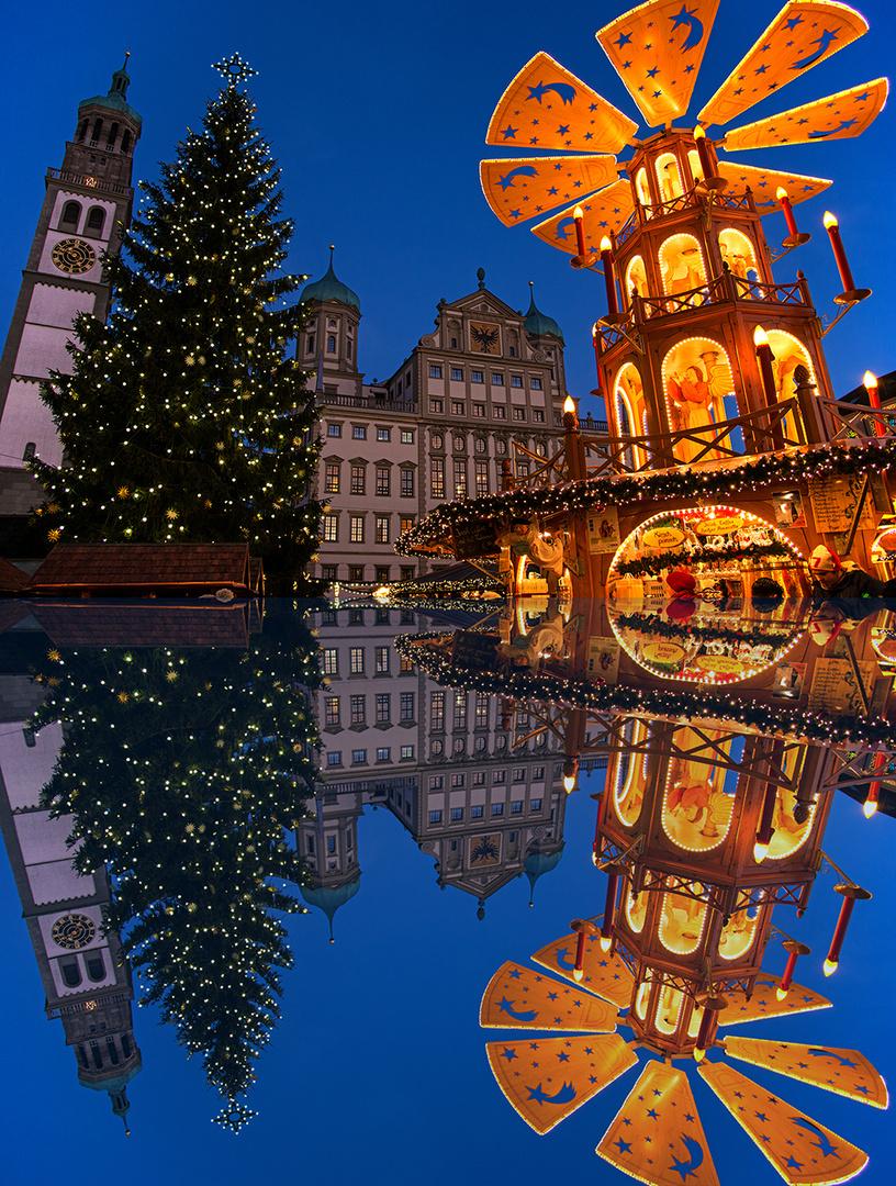 Weihnachtsmarkt Augsburg (kleine Spiegelei)