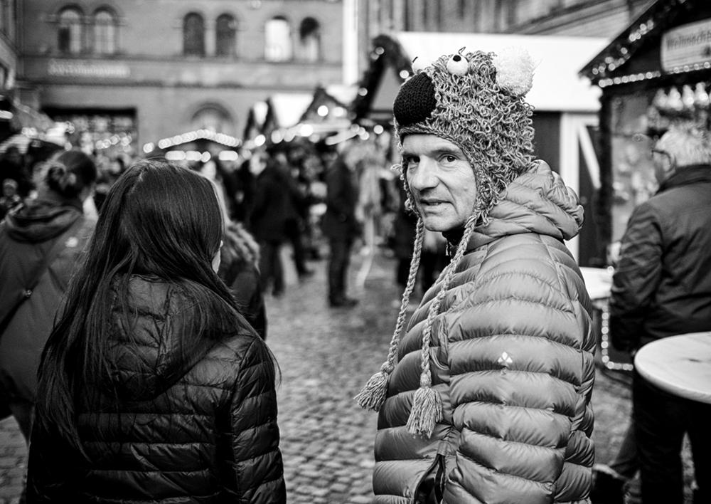 Weihnachtsmarkt-Begegnung