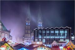 Weihnachtsmarkt Bremen vernebelt ...