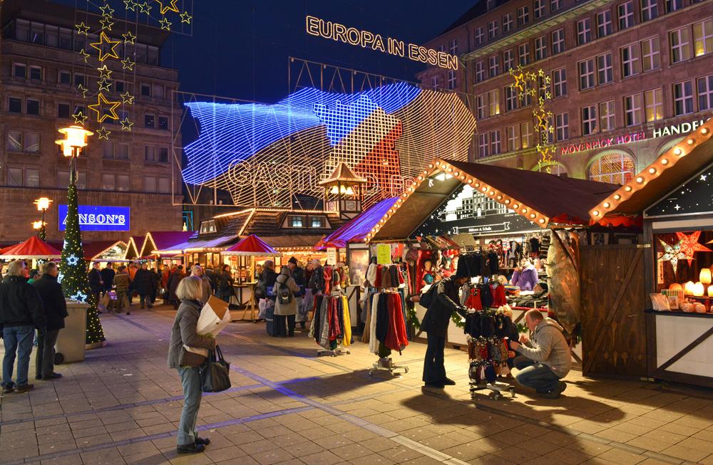 Essen Weihnachtsmarkt.Weihnachtsmarkt In Essen Willy Brandt Platz Foto Bild