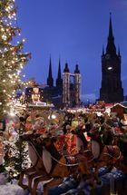 Weihnachtsmarkt in Halle Saale