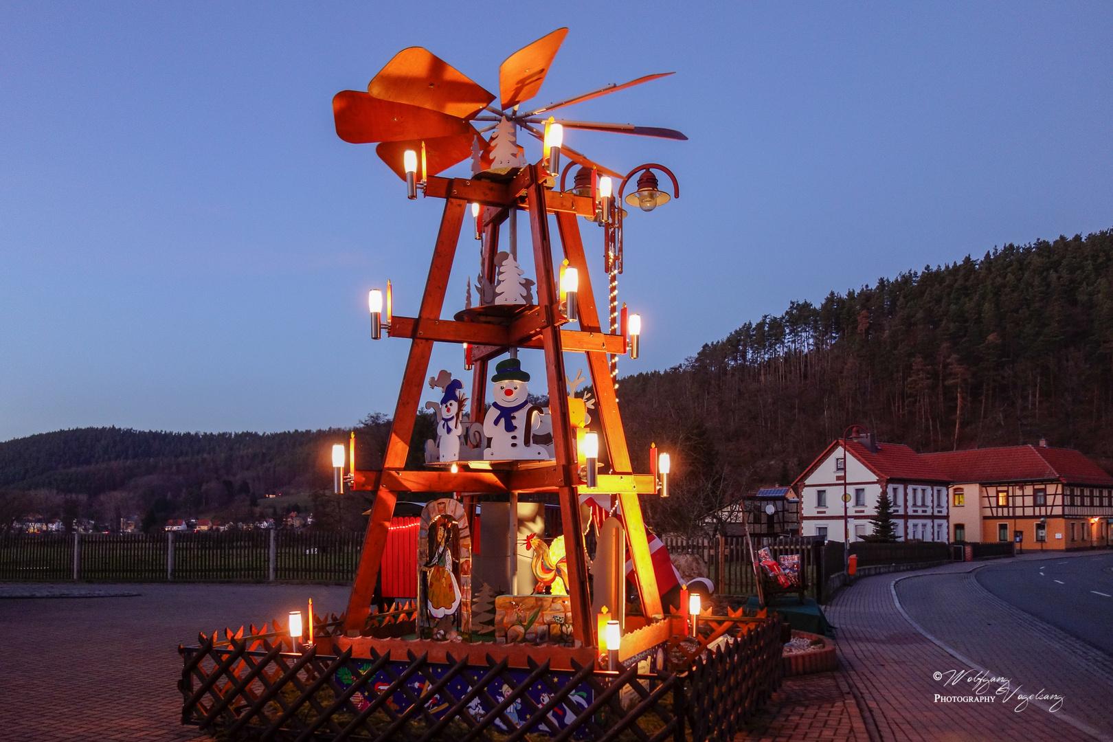 Weihnachtspyramide in Kleindembach