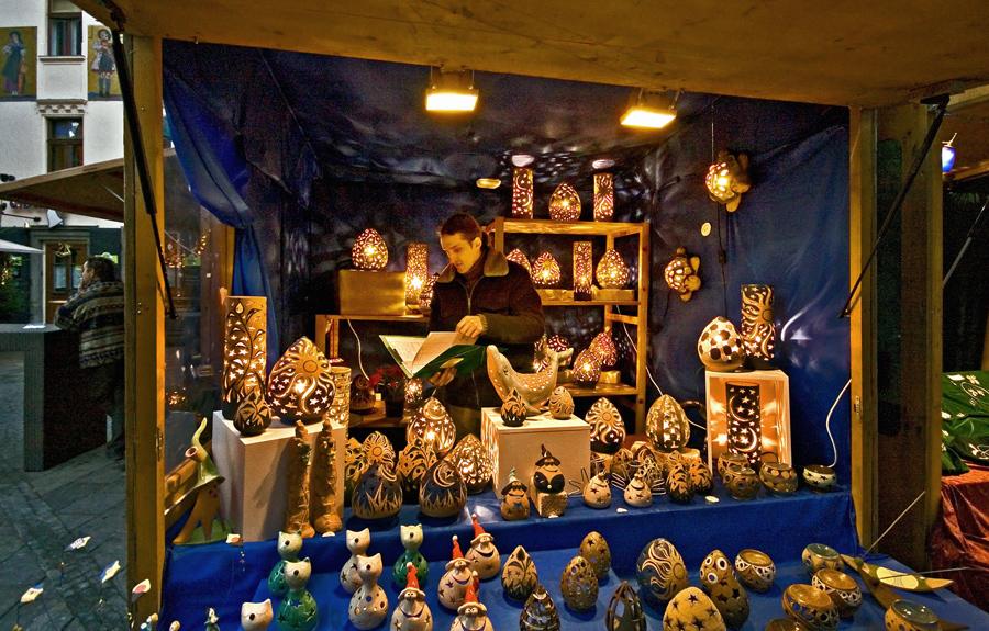 Weihnachtsstandl am Grazer Glockenspielplatz