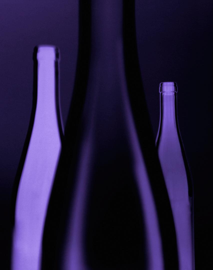 Wein, 3 Flaschen leer