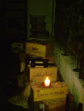 Wein bei Kerzenschein