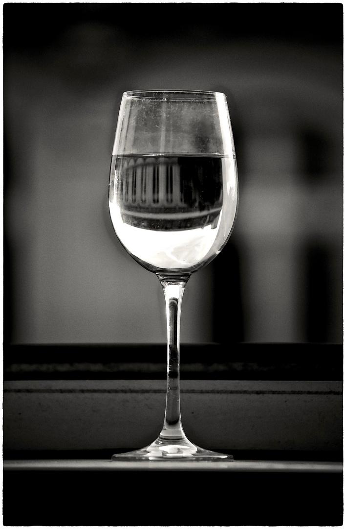 Wein im Fenster