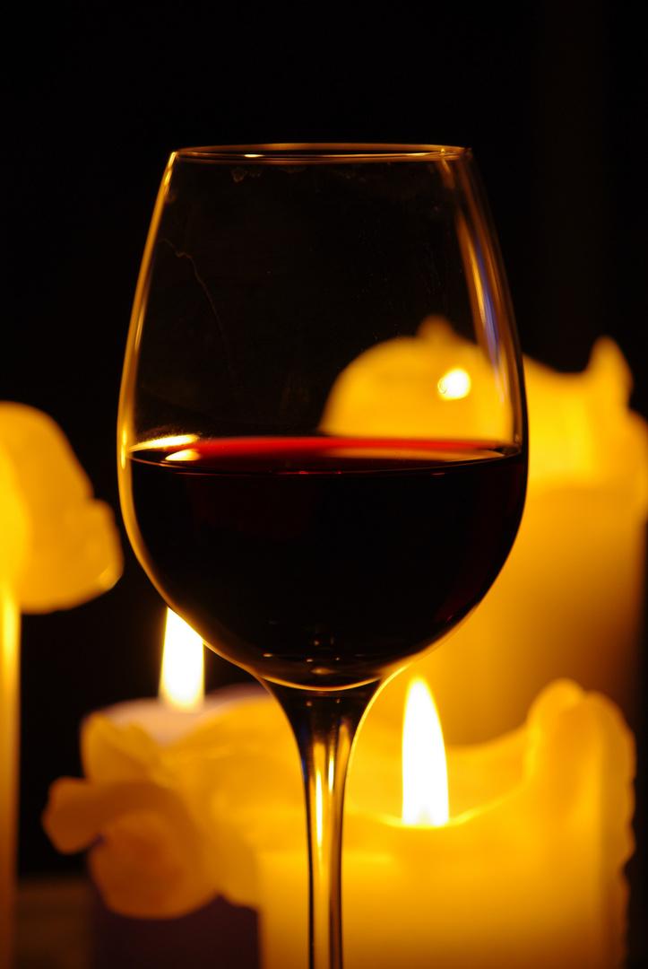 Wein und Kerzen 2