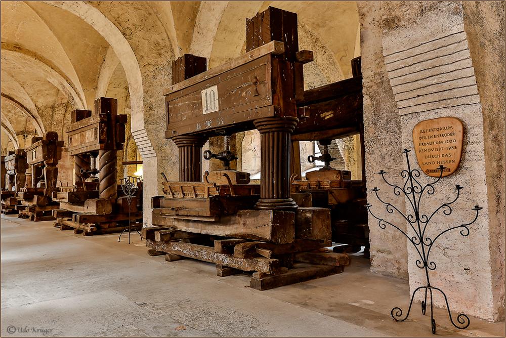 Weinpresse aus dem Kloster Eberbach
