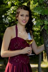 Weinprinzessin am Calmont