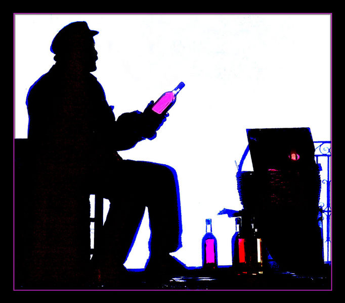 Weinverkäufer-Santorin