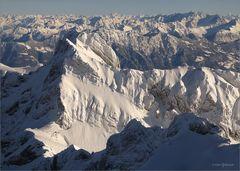 weiss gezuckertes Alpsteinmassiv