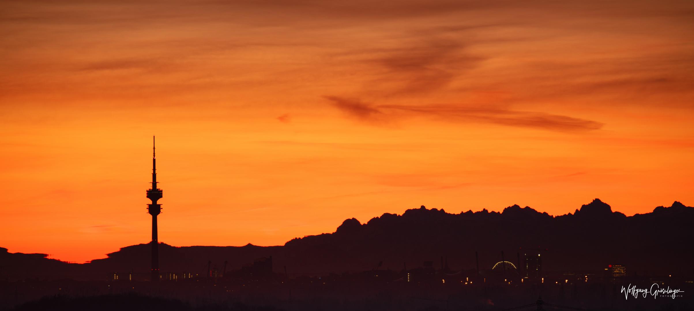 Weit vor Sonnenaufgang in München