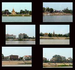 Weiterfahrt entlang der Außenbezirke von Phnom Penh zur Hauptanlegestelle