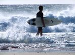well, surfing...