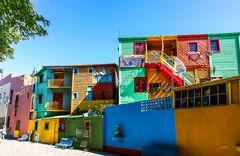 Wellblechhäuser von La Boca