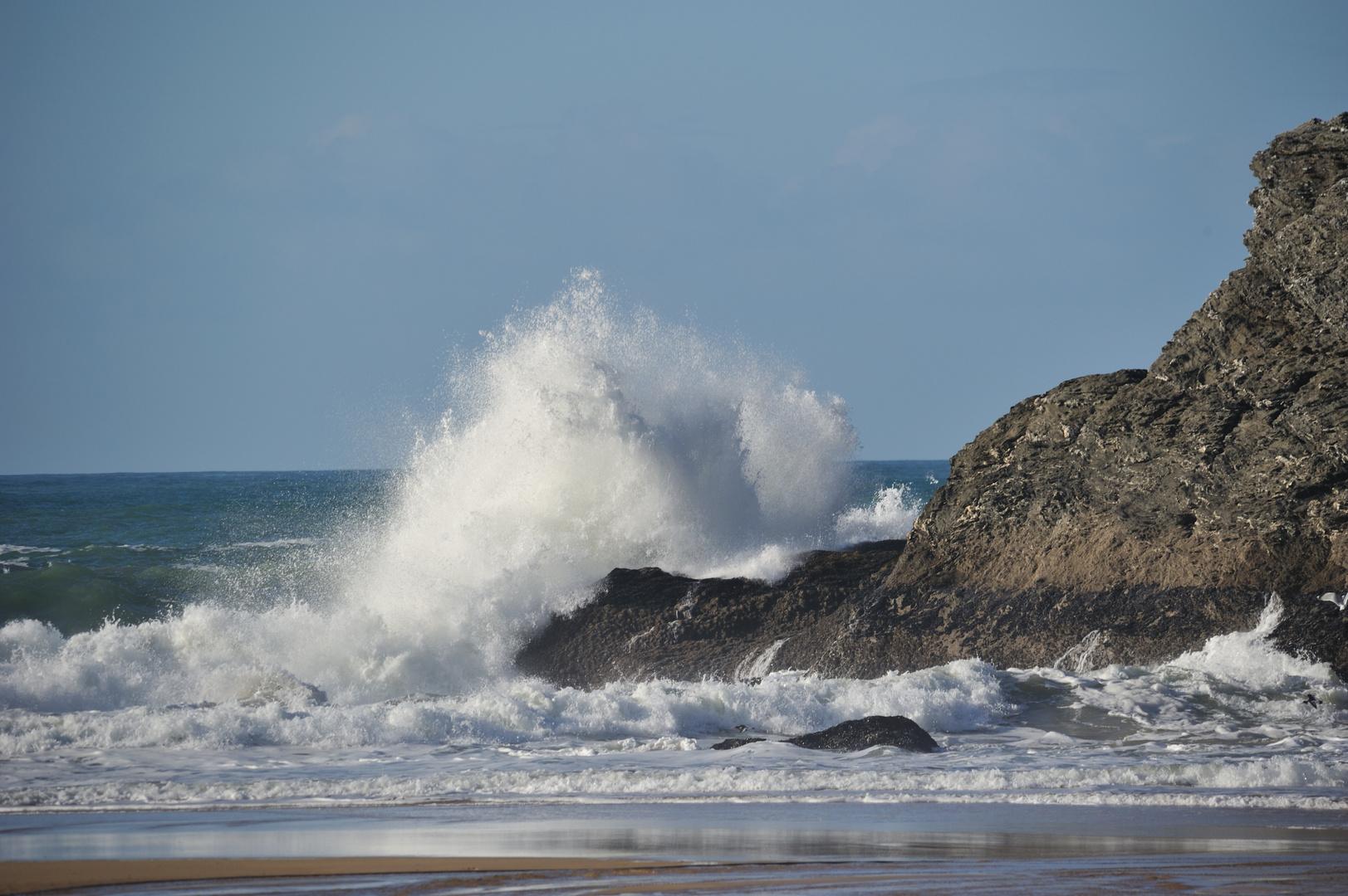 Wellen auf Belle Ile / Bretagne im Dezember