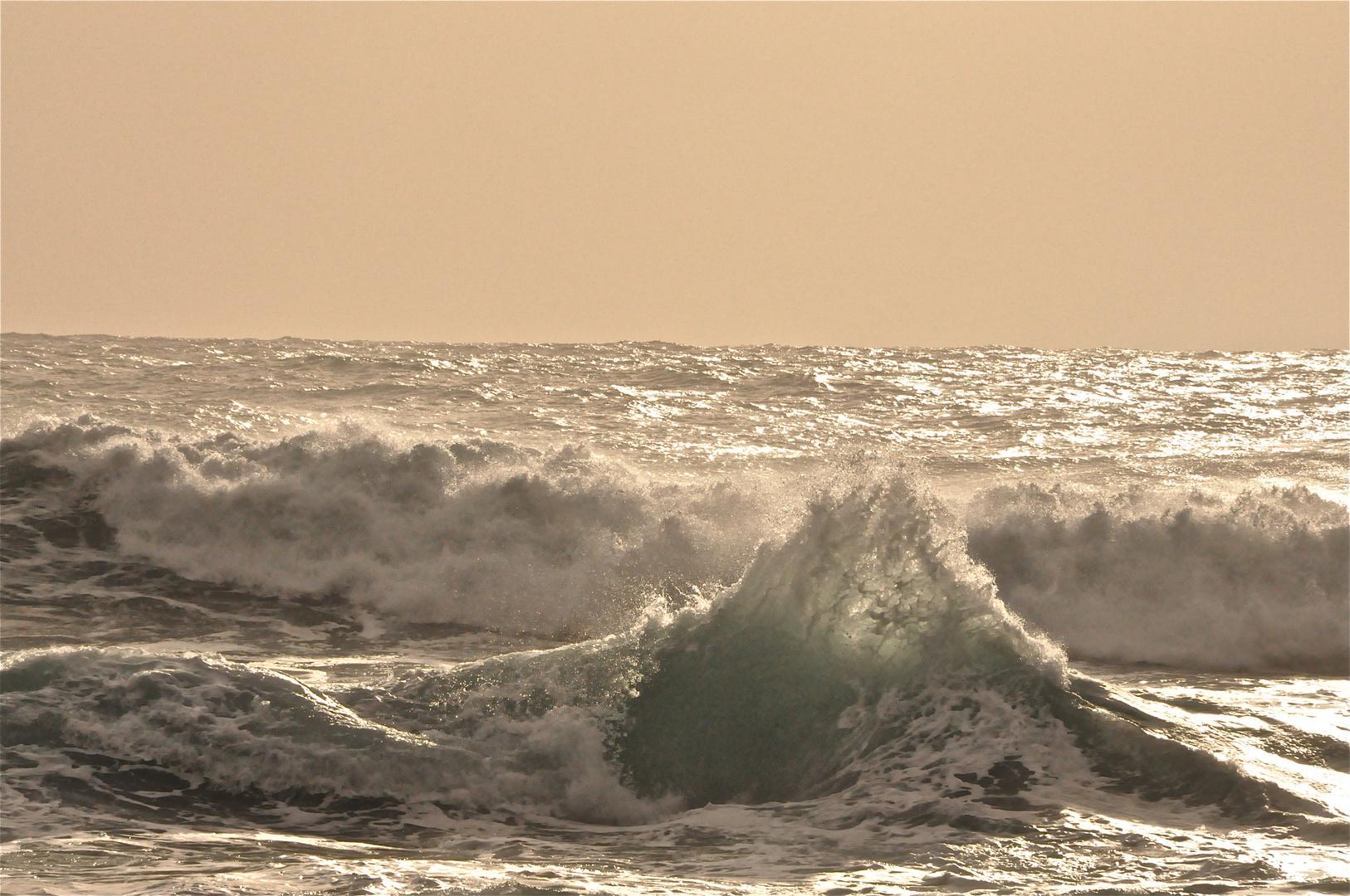 Wellen in Valle Gran Rey