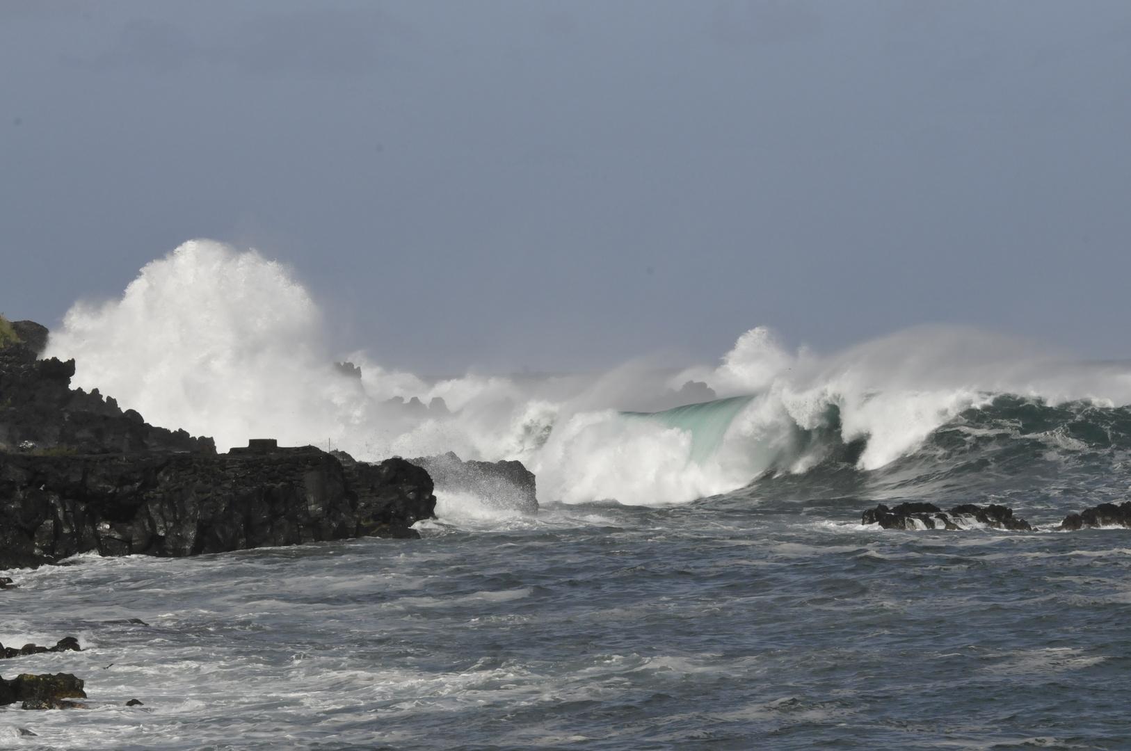 Wellen vor Pico-Azoren