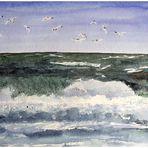 Wellen vor Sylt