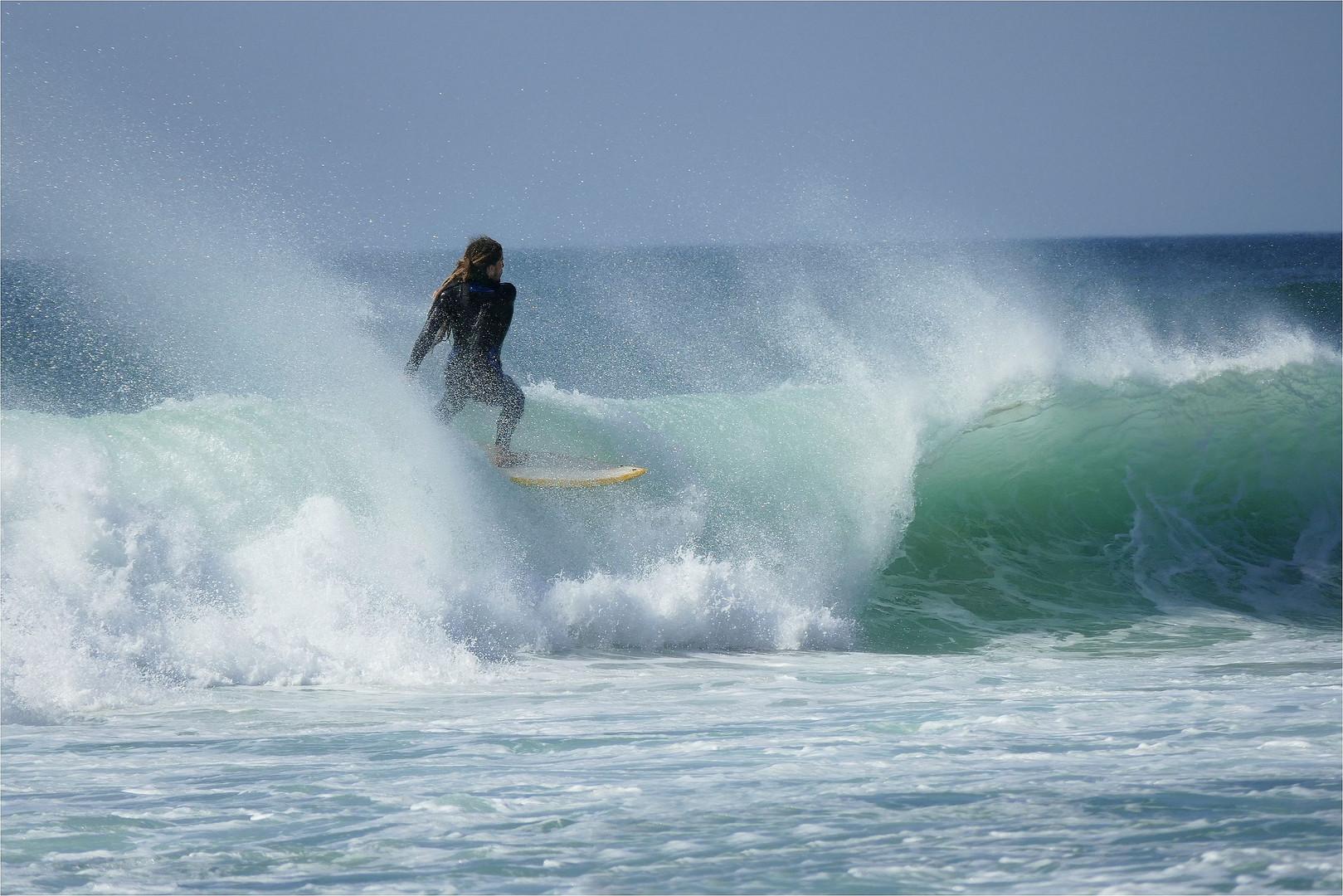 Wellenreiten...