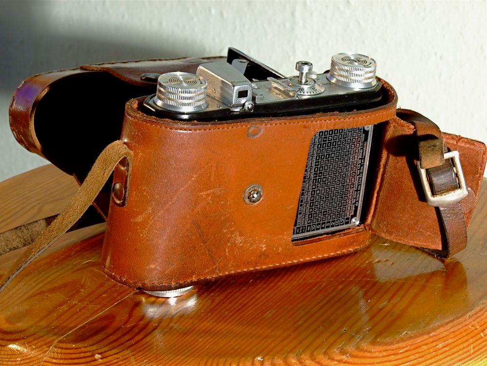 °°° Welti 1 mit Tessar 2,8/50 T Carl Zeiss Jena - Und Originaltasche dieses Modell's °°° °°°