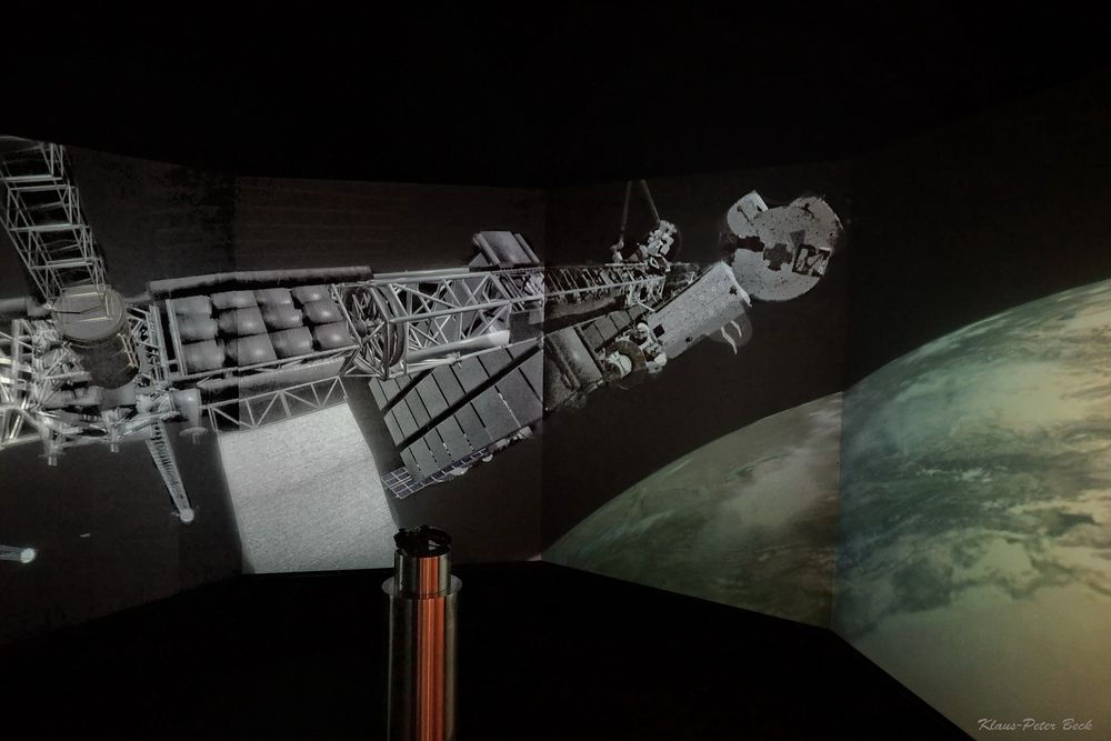 Weltraum Simulation.