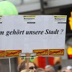 WEM GEHOERT ? Stuttgart K21 Demo 30.10.2010  - Plakat: Wem gehört ?