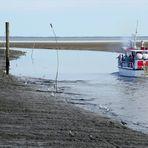 Wenig Wasser unterm Kiel ...