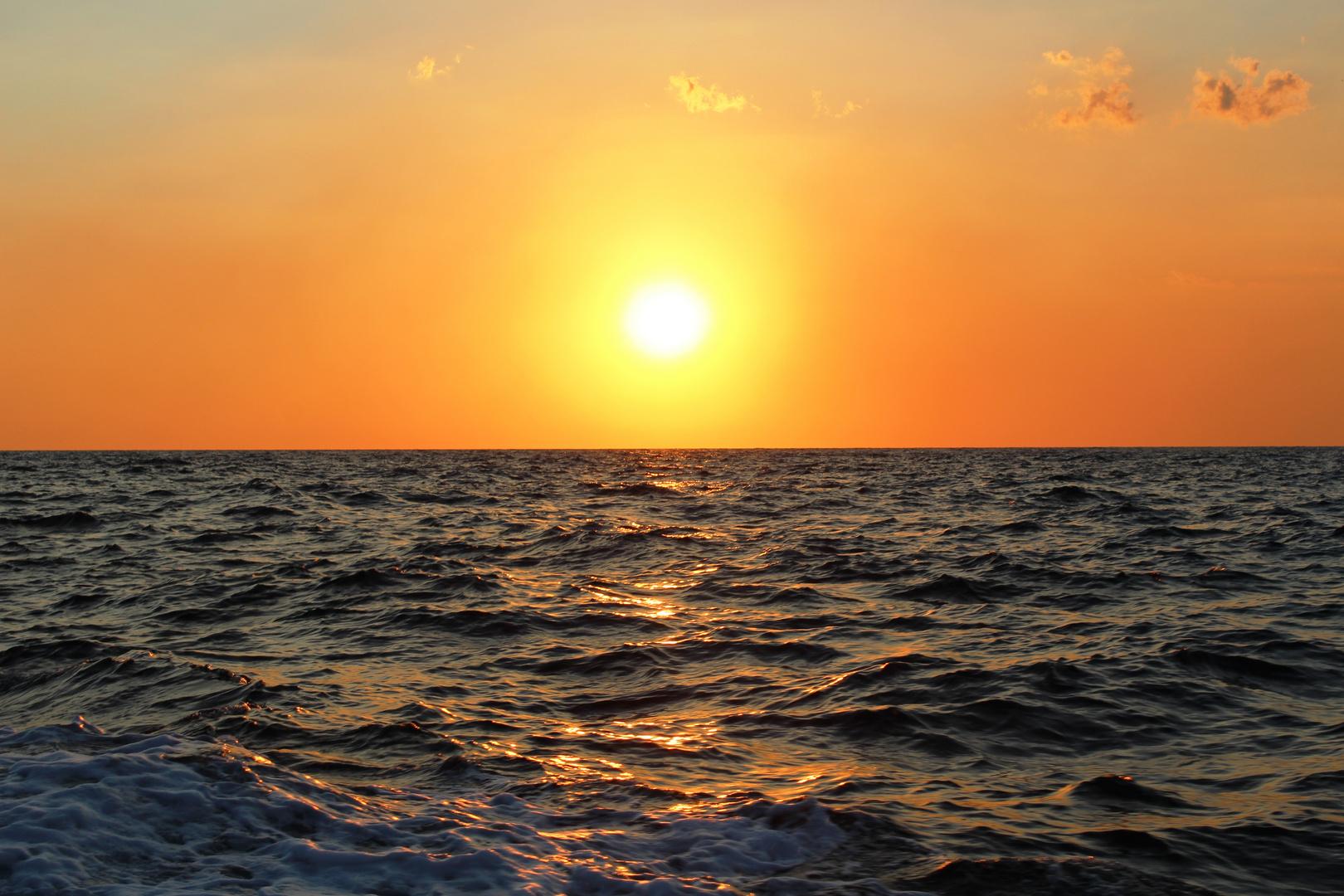 Wenn bei Capri die rote Sonne ....