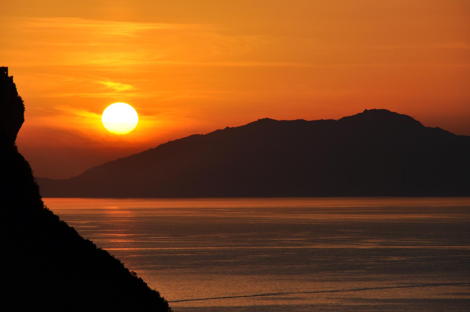 Wenn bei Capri die Sonne im Meer versinkt 2