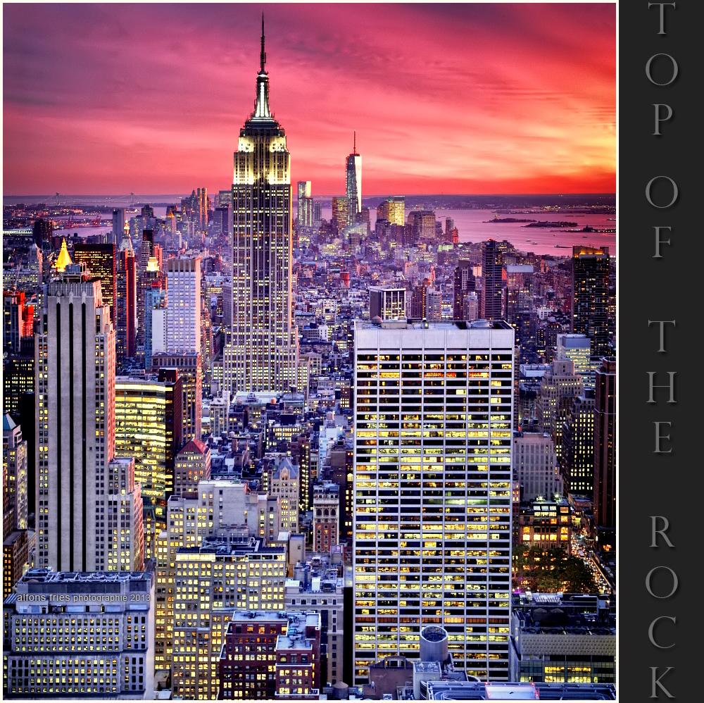 Wenn der Himmel glüht über New York City