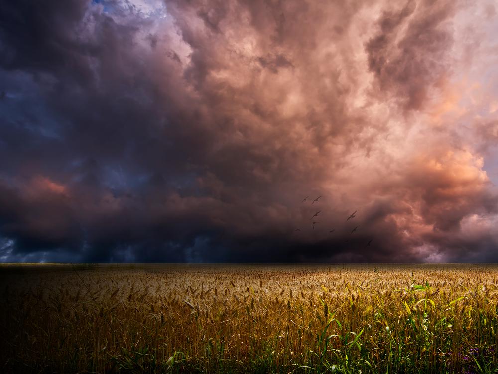 Wenn der Himmel sein prächtiges Unwesen treibt