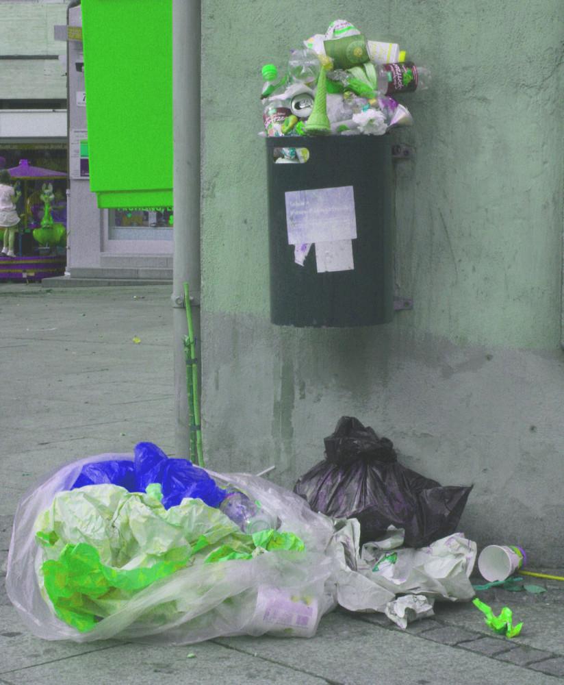 Wenn der Müll-Mann Urlaub hat...