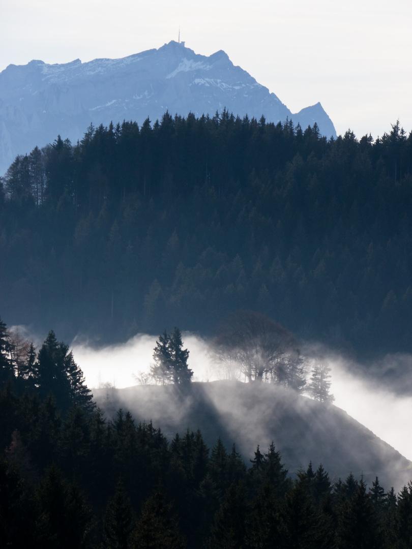 wenn der Nebel ins Appenzellerland drückt
