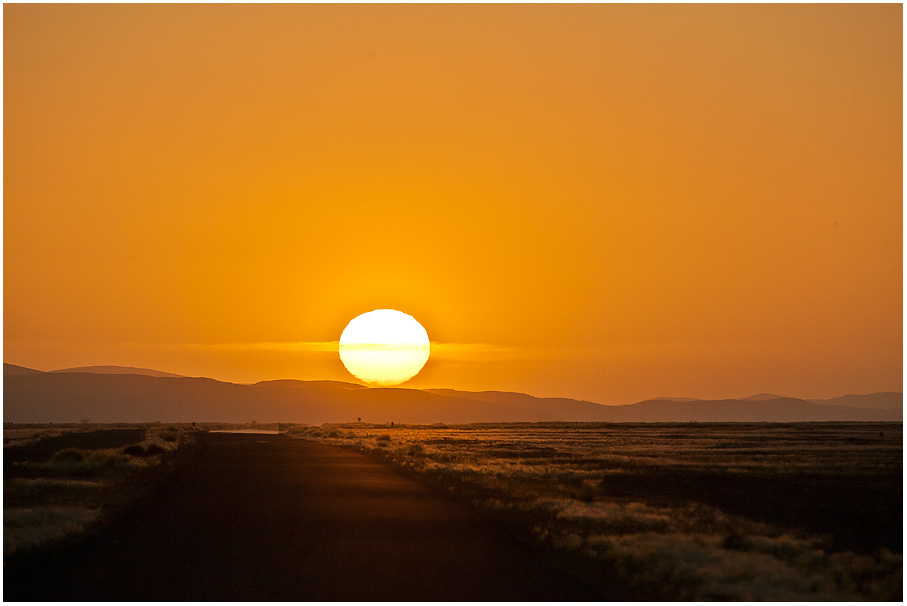 Wenn die Sonne den Horizont berührt