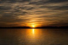 Wenn die Sonne dramatisch am Horizont versinkt......