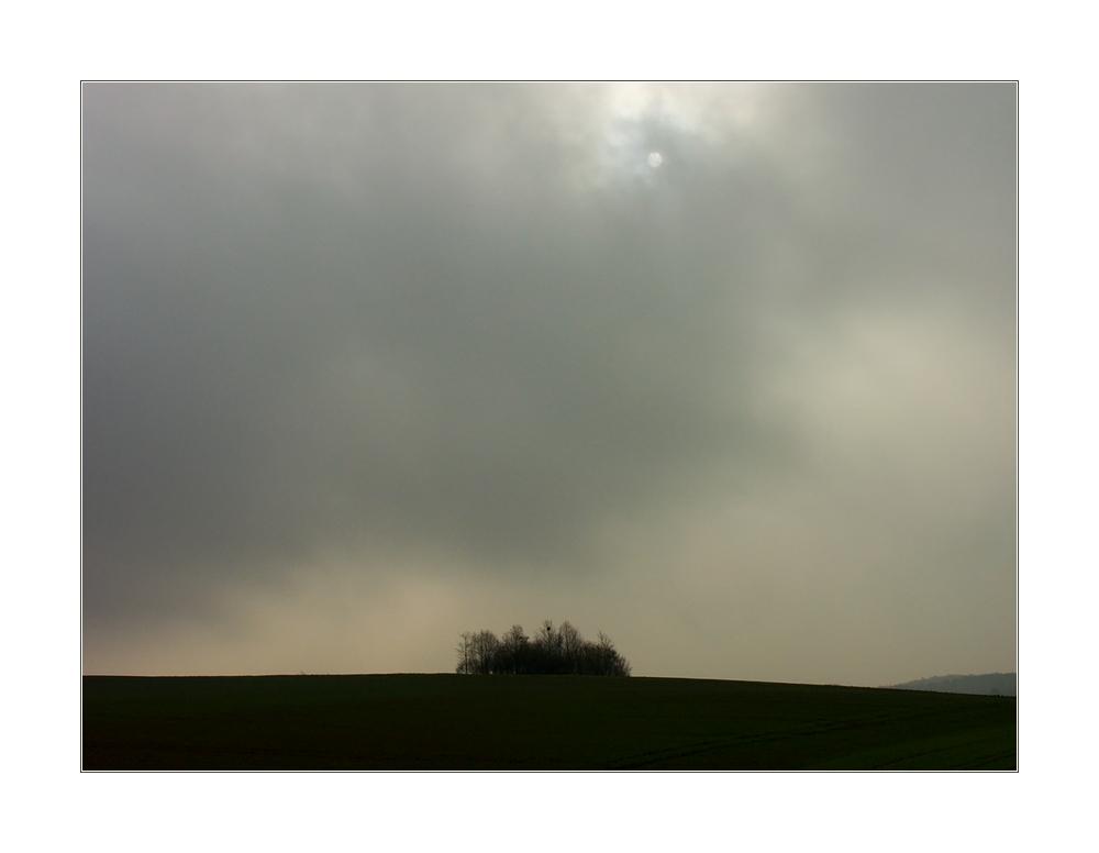 ...wenn die Sonne hinter aufsteigenden Nebelwolken ihr Antlitz verhüllt...