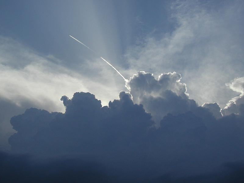 wenn die Wolken kommen.........