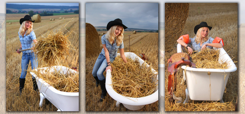 Wenn ein Cowgirl baden geht...