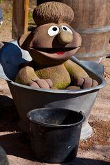 Wenn Ernie baden geht.