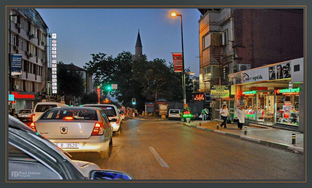 Wenn es Nacht wird in Bursa, Türkei