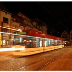 Wenn es Nacht wird, in Erfurt ...